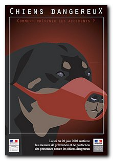 depliant chiens dangereux